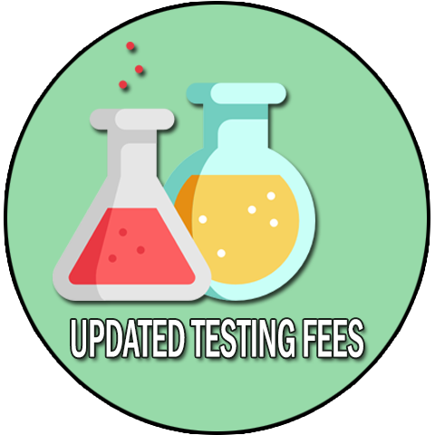 Updated Testing Fees